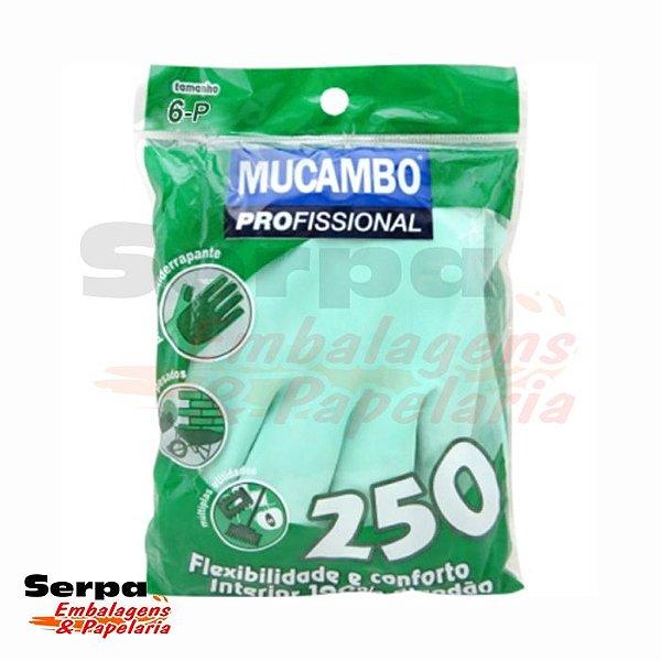 LUVA LÁTEX VERDE FORRADA MUCAMBO PRO 250
