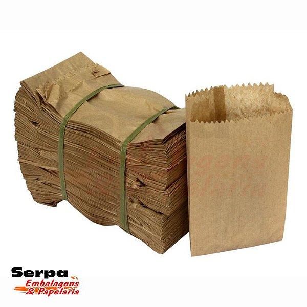 Saco de Papel Kraft LISO - Fardo com 500 unidades
