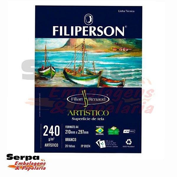 Papel A4 Filipaper Artístico - Filiart Renaud - 240G - Pacote com 20 Folhas