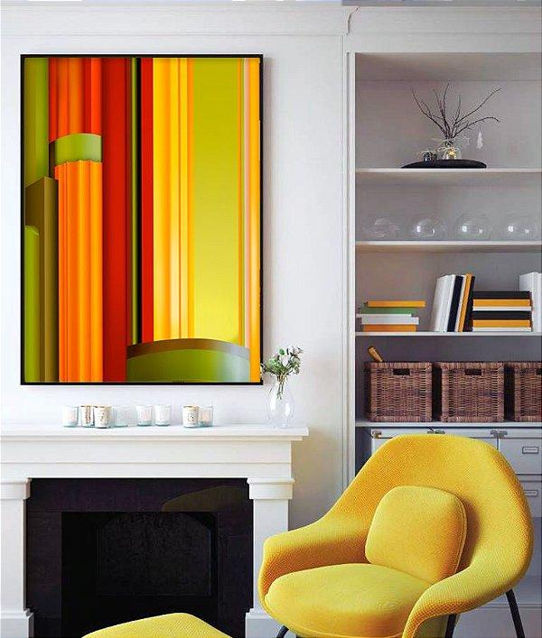 Quadro abstrato tons de amarelo FF036
