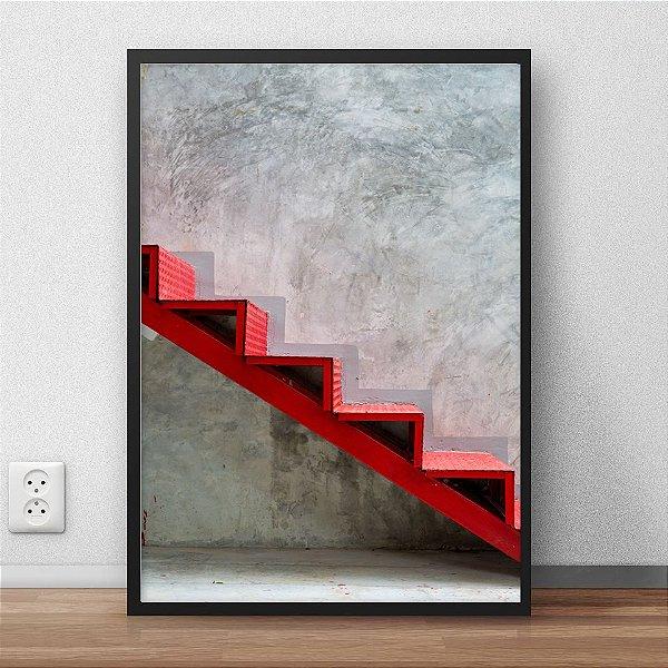 Quadro escada vermelha FF009