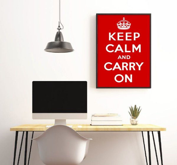Quadro keep calm and carry on FF016