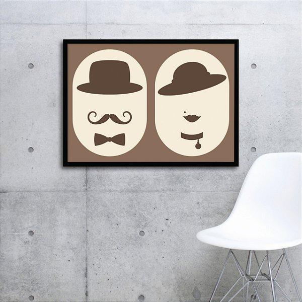 Quadro homem e mulher FF080