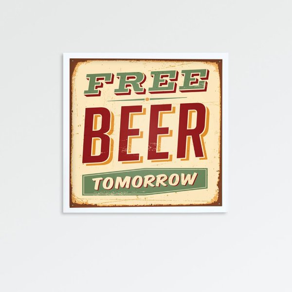 Quadro free beer tomorrow  FF058