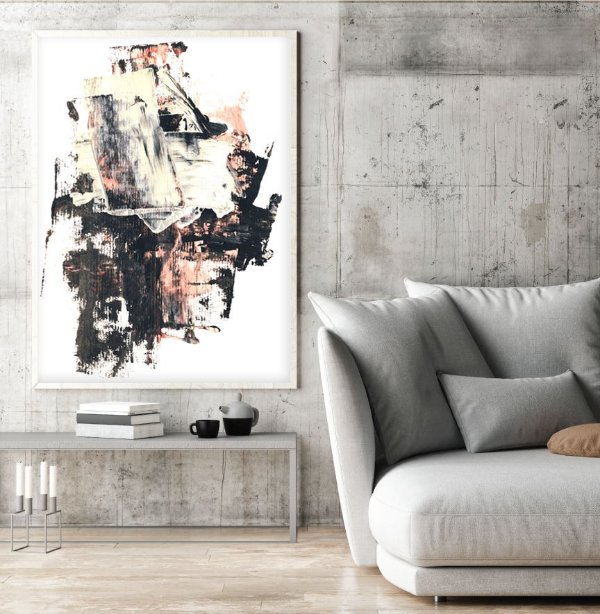 Quadro pintura abstrata ff127