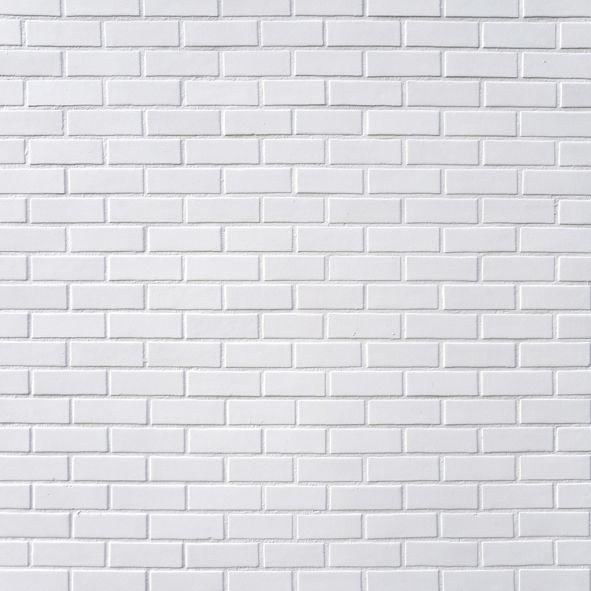 Papel de Parede Tijolinho branco fp001
