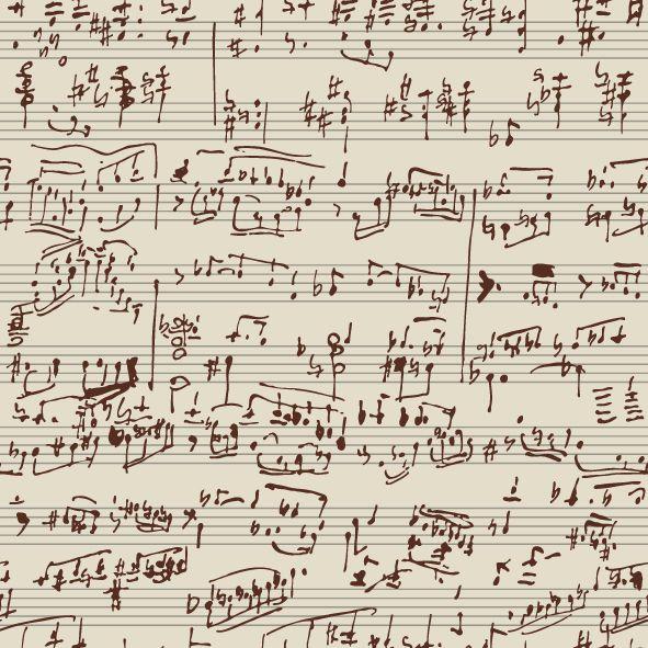 Papel de parede notas musicais FP019