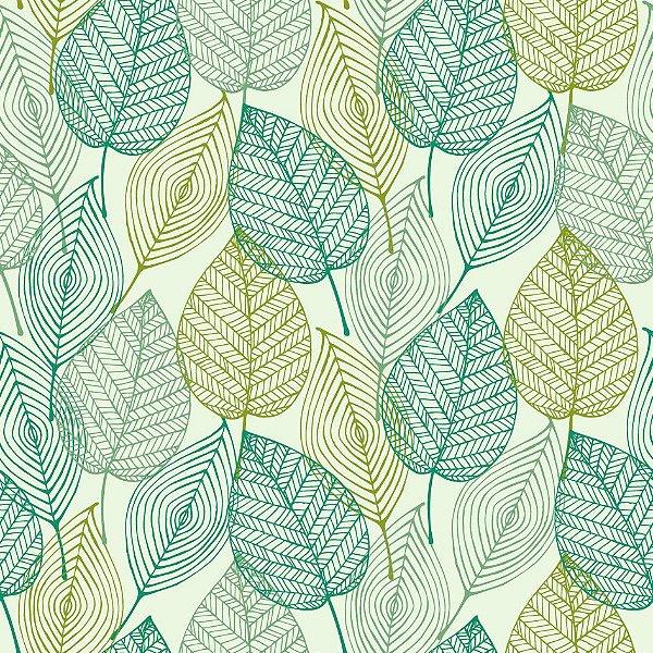 Papel de parede folhas fp476