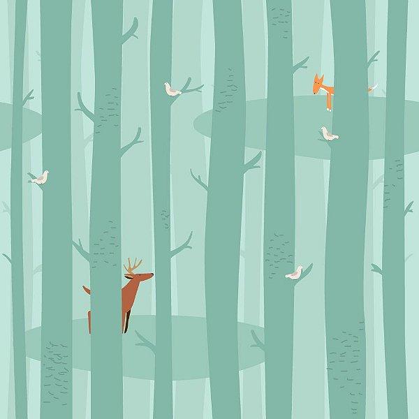 Papel de parede floresta fp497