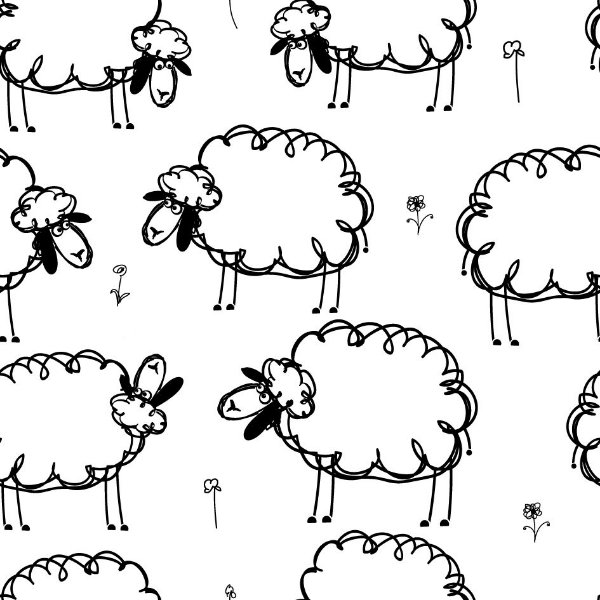 Papel de parede ovelhas fp507