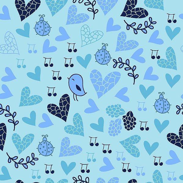Papel de parede blue fp685