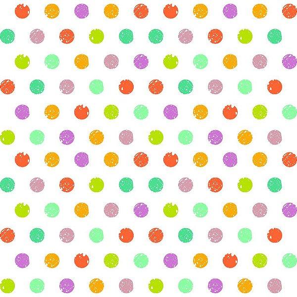 Papel de parede bolinhas coloridas fp651