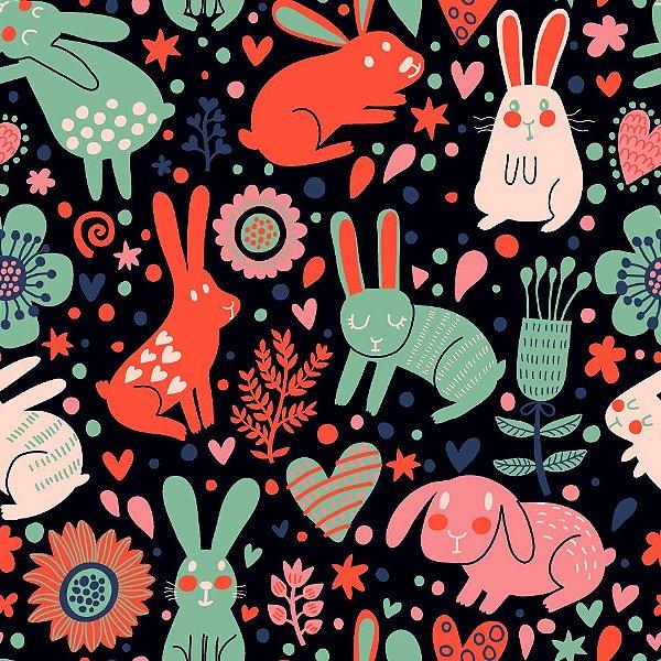 Papel de parede coelhos fp690