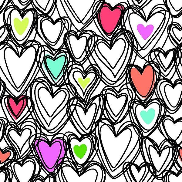 Papel de parede corações fp689