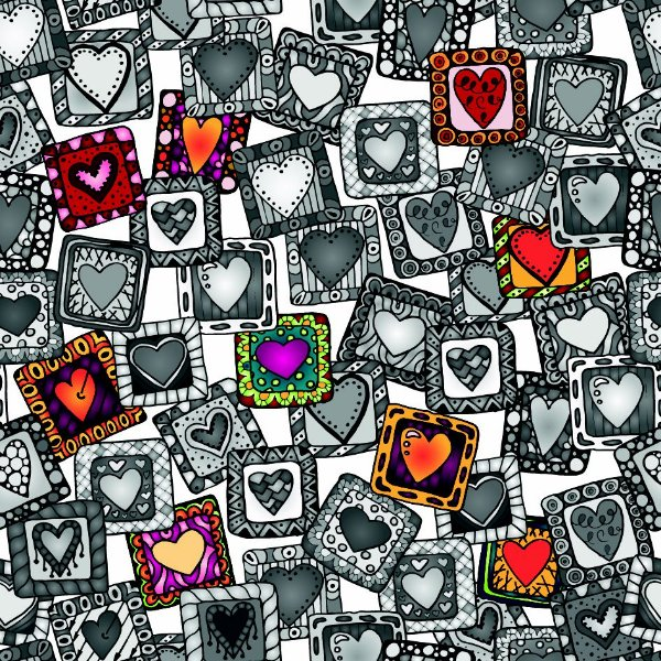 Papel de parede corações fp693