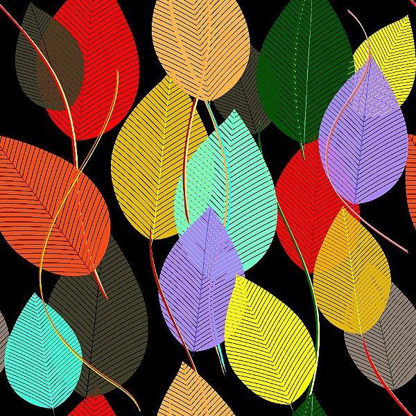 Papel de parede folhas coloridas fp619