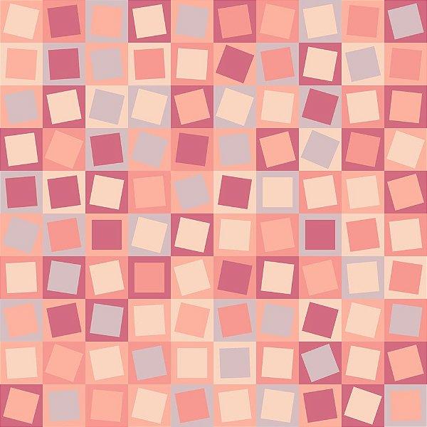 Papel de parede quadrados rosas fp650