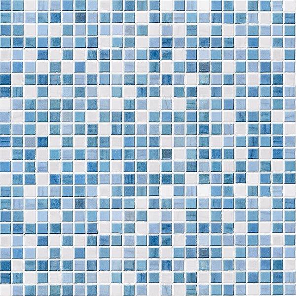 Papel de parede azulejos azuis fp087