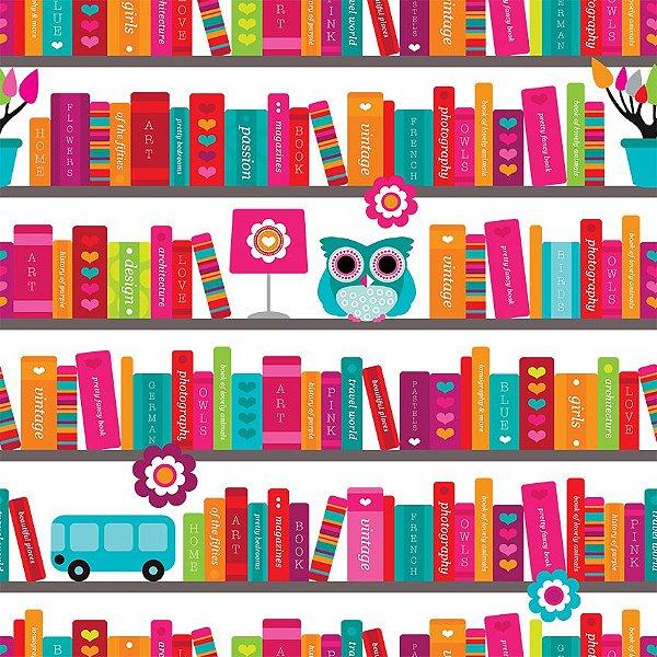 Papel de parede biblioteca fp109