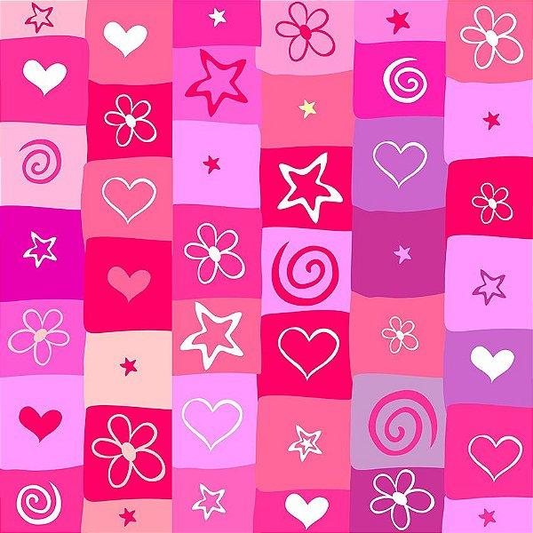 Papel de parede estrelas e corações fp107