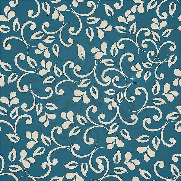 Papel de parede floral azul fp094