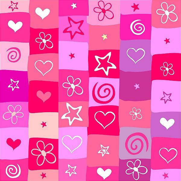 Papel de parede corações fp1034