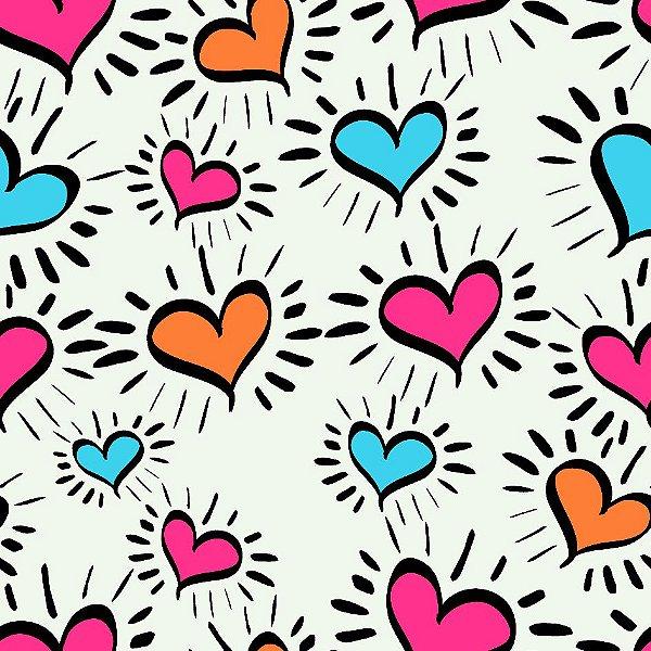 Papel de parede corações fp1137