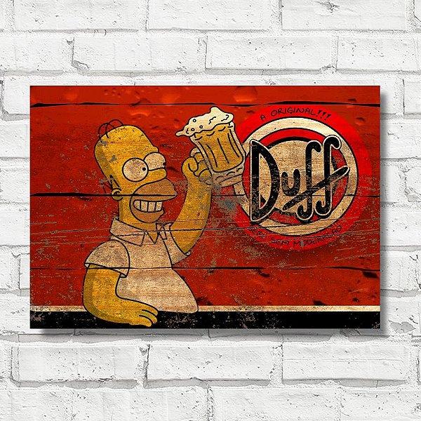 Placa decorativa cerveja Duff FP056