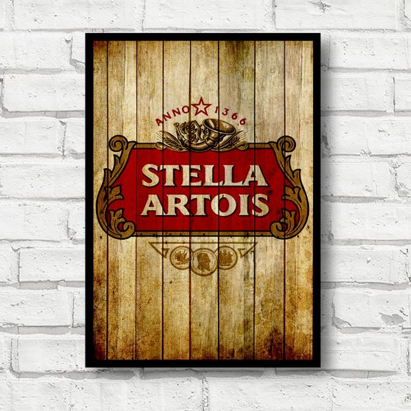 Placa-decorativa cerveja Stella Artois FD026