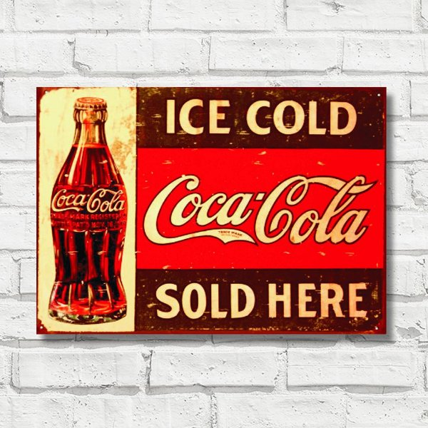 Placa decorativa Coca-Cola FD034