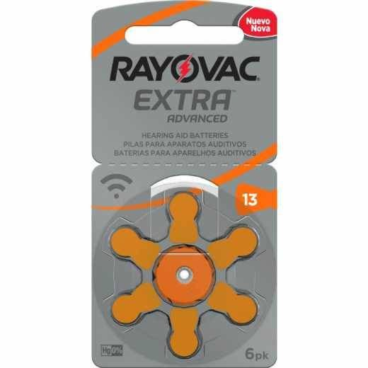 Pilhas Auditivas Rayovac Tamanho 13 / PR48 - Cartela c/6unid