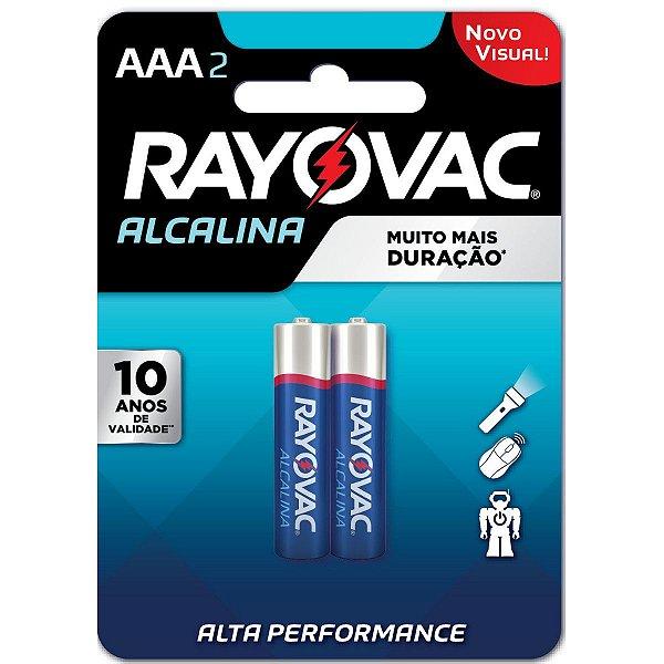 Pilha Alcalina Rayovac AAA (Palito) - 1 Cartela com 2 Pilhas