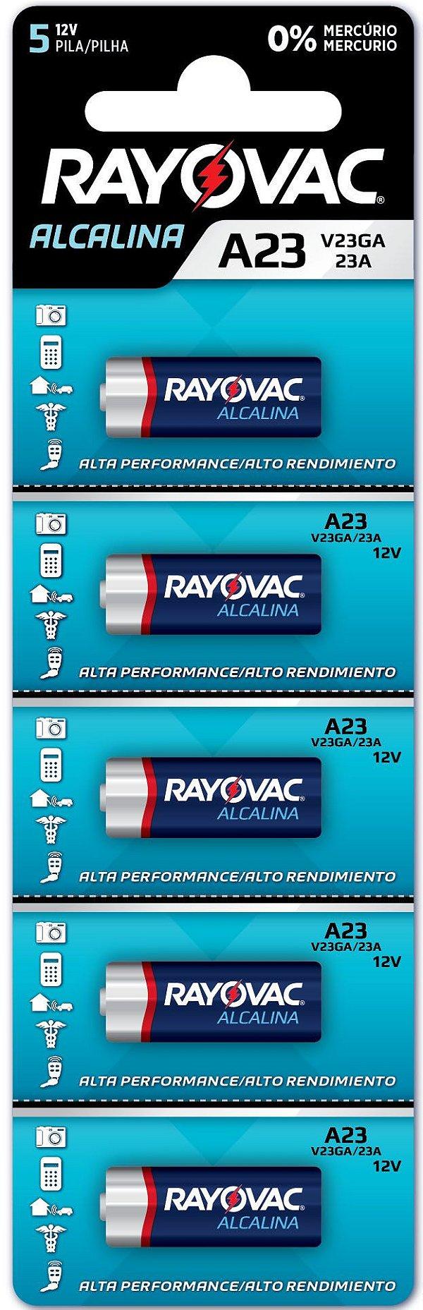 Pilha Eletrônica Rayovac V23GA - Multiblister com 5 Pilhas