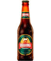 Cerveja Malzbier Brahma Long Neck 355ml com 24 unidades