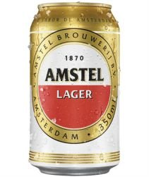 Cerveja Amstel Lata 350ml com 12 unidades