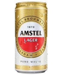 Cerveja Amstel Lata 269ml com 12 unidades