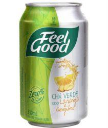 Chá Verde Feel Good Laranja e Gengibre Lata 330ml com 12 unidades