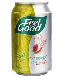 Chá Branco Feel Good Lichia Lata 330ml com 12 unidades