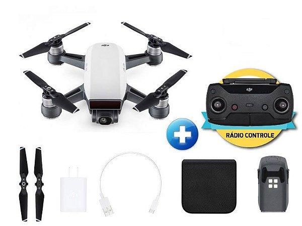 Drone Dji Spark White Alpine Com Rádio Controle