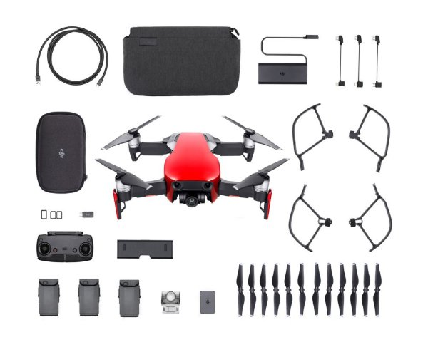 Drone Dji Mavic Air Flame Red Fly More Combo