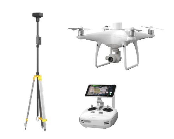 Drone Dji Phantom 4 RTK + D-RTK 2 Mobile Station Combo