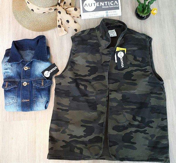 Colete Jeans Camuflado