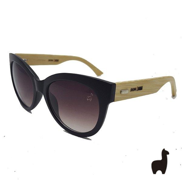 Óculos de Sol Original Lhama em Acetato e Bambu UCQPZXWQ8