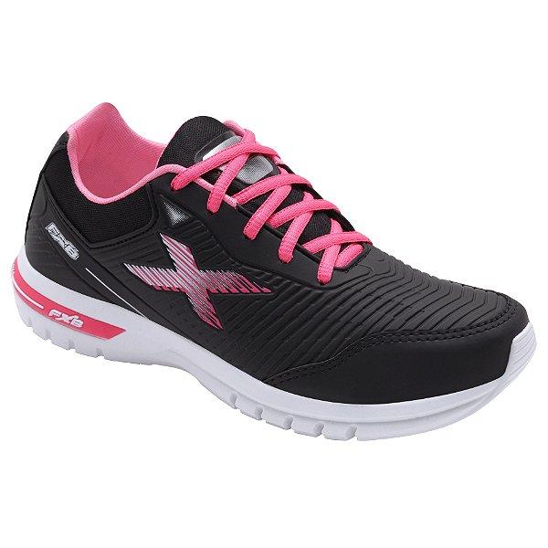 Tênis Esportivo Feminino Fxb Preto/Pink