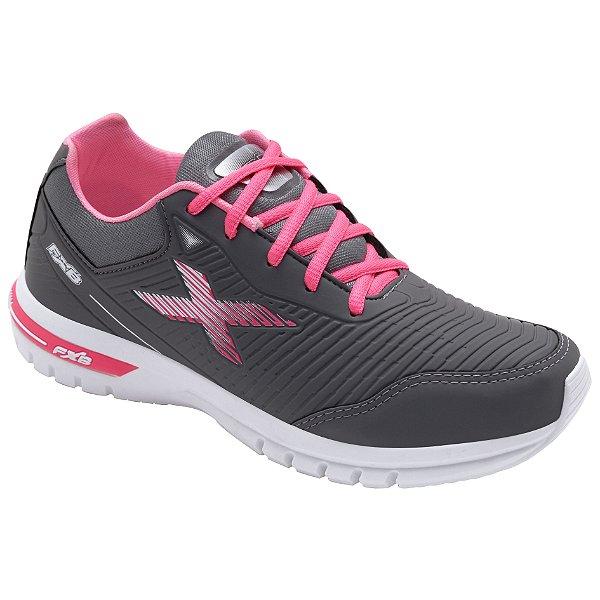 Tênis Esportivo Feminino Fxb Cinza/Pink