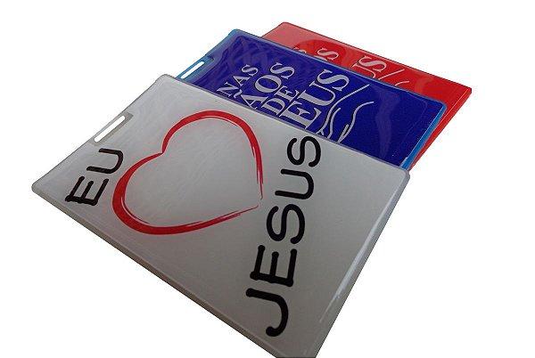 Porta Cartão com Adesivos Resinados