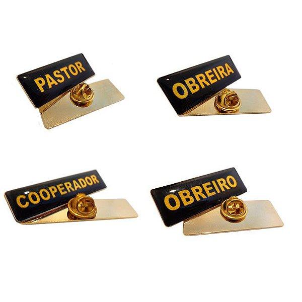 Broche Dourado com Cargo Ministerial