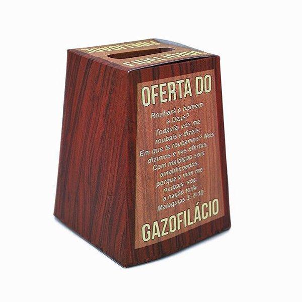 Caixa Gazofilácio - Fidelidade em Papel 150g para Dobrar