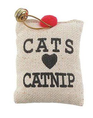 SAQUINHO CATNIP COM SINO - CATS