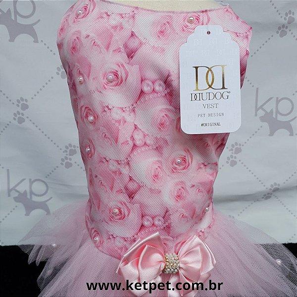 Vestido Pérolas Rosa - DuDog